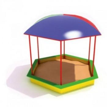Песочница шестигранная с крышей поликарбонат ПДО 19