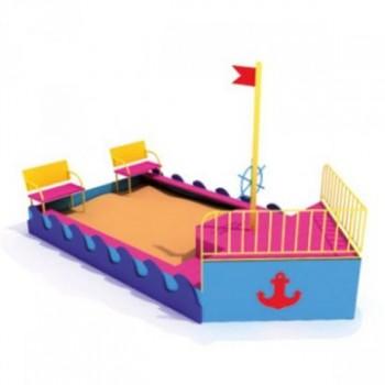 Песочница Большой Корабль со скамейками ПДО 15