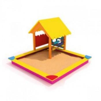 Песочница с домиком, счетами ПДО 17