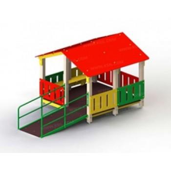 Домик-манеж для детей с ограниченными физическими возможностями (с одним входом) ЭДП 19