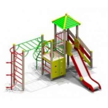 Детский игровой комплекс ДИК 0748 h ската1500 мм