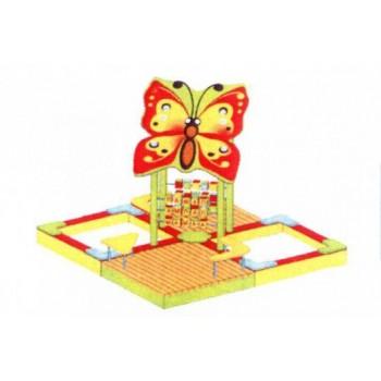 Песочница Бабочка со счетами и площадками ПДО 41