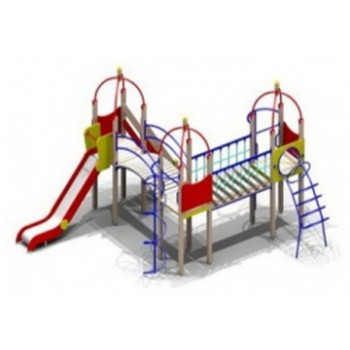 Детский игровой комплекс ДИК 0749 h ската 1500 мм