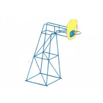 Баскетбольная стойка усиленная СПБ 01