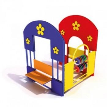 Домик «Счеты, скамейки» ЭДП 04